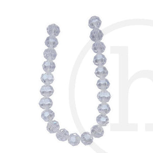 Glass Beads Faceted Round(32 Facets) Crystal Luster