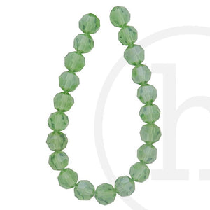 Glass Beads Faceted Round(32 Facets) Sapphire Luster