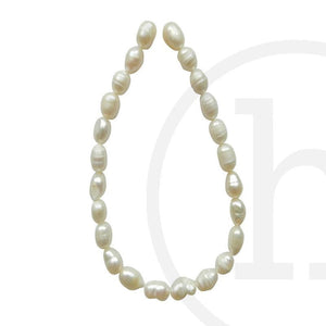 Fresh Water (B Quality) Pearl Rice (Hole Through Length) White Sizes Vary
