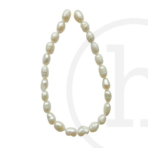 Pearl Beads, Pearl, Pearls, Beads, Freshwater Pearls, White, Freshwater Pearl, Rice, 6-7mm, 6mm, 7mm