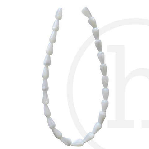 Pearl Beads, Pearl, Pearls, Beads, Freshwater Pearls, White, Mother of Pearl , Teardrop, 5x9mm, 5mm, 9mm