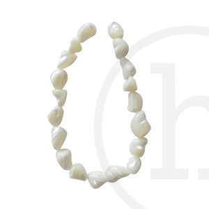 Mother Of Pearl Middling Stone WhiteBeads by Halcraft Collection