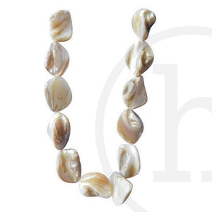River Shell Tooth Shape NaturalBeads by Halcraft Collection
