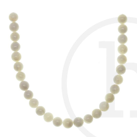 Pearl Beads, Pearl, Pearls, Beads, Shell, White, River Shell, Round, 9mm