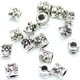 Antique Silver Plated Drum Beads 4mm