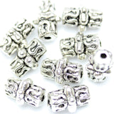 Antique Silver Plated Bali-Style Cylindar Beads 7×10mm
