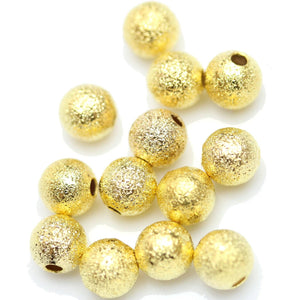 Gold Tone Plated Stardust Beads 6mm