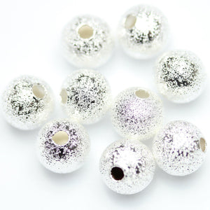 Silver Plated Round Beads 7mm
