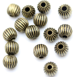 Antique Copper Smooth Plated Round Beads 6mm