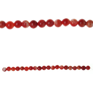 Red Dyed Dolomite Stone 10mm  RoundBeads by Halcraft Collection