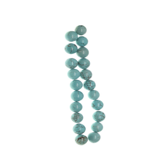 Turquoise Dyed Howlite 10mm  Stone RoundBeads by Halcraft Collection