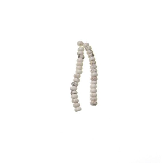 White Reconstructed Stone Rondell 5X8mm Beads by Halcraft Collection