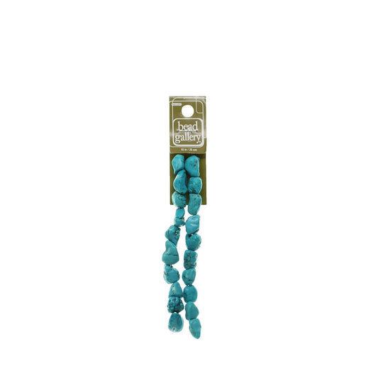 Turquoise Dyed Howlite 10mm  Natural Shape StoneBeads by Halcraft Collection