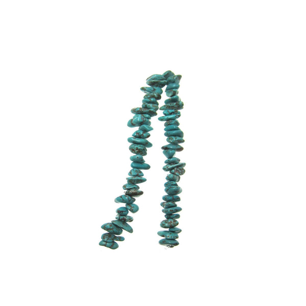 Turquoise Dyed Reconstituted Stone 15mm  ChipsBeads by Halcraft Collection