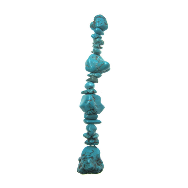 Turquoise Howlite 25-30mm Dyed Natural Shape Stone