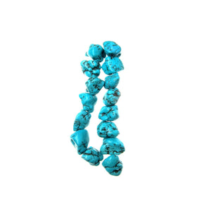 Turquoise Dyed Howlite 15-20mm Natural Shape Stone