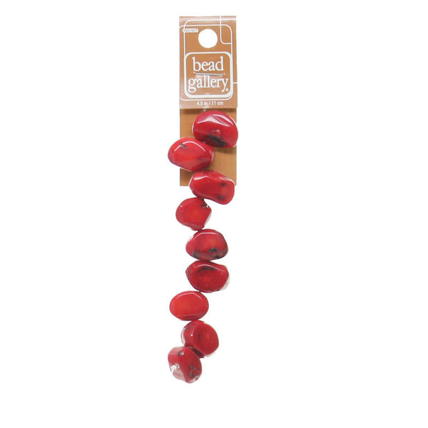 Bamboo Dyed Red Nuggets 15-20mm Range
