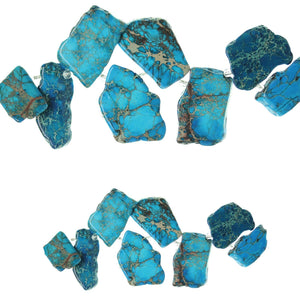 Blue Dyed Imperial Jasper Stone SlicesBeads by Halcraft Collection