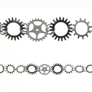 Silver Plated Gears Connectors Aprox 15mm