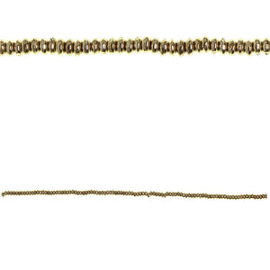 Gold Tone Plated 1.5x4mm Nugget Rondell BeadsBeads by Halcraft Collection