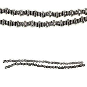 Silver Plated 5mm Rondell Smooth BeadBeads by Halcraft Collection