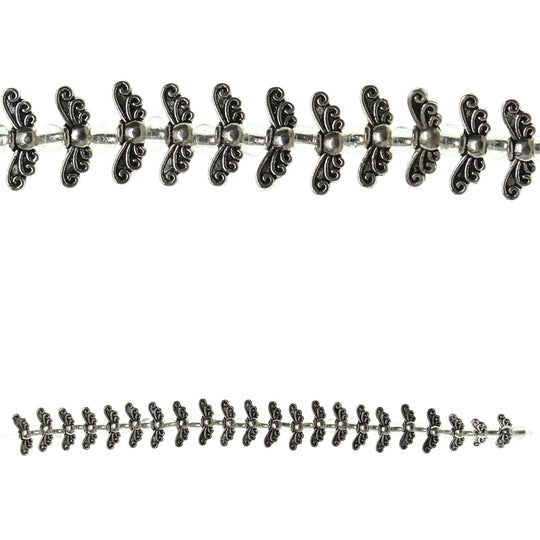 Silver Plated Metal Small Wing Beads 4x14mmBeads by Halcraft Collection