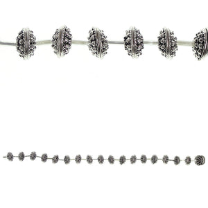 Silver Plated and Antiqued Bumpy Bead Cap 3x10mmBeads by Halcraft Collection