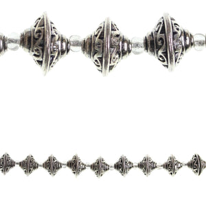 Silver Plated Antique 9x18mm Bead CapBeads by Halcraft Collection