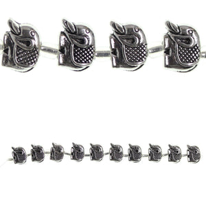 Silver Plated and Antiqued 9x12mm Elephant BeadBeads by Halcraft Collection