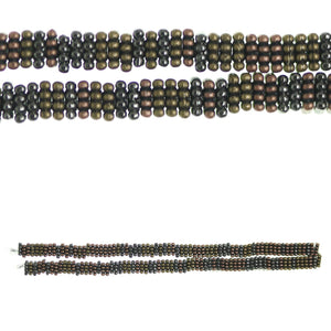 Multi Metal Plated and Antiqued Bali-Style 5mm Bumpy Square Rondell BeadsBeads by Halcraft Collection