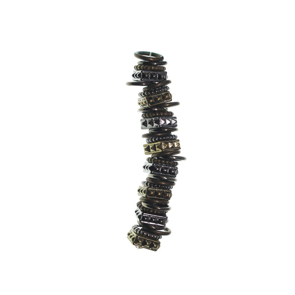 Multi Plated Metal and Acrylic Mix 10mm