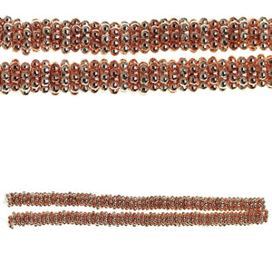 Multi Bright Metal Plated Bali-Style 6mm Rondell Spacer BeadsBeads by Halcraft Collection