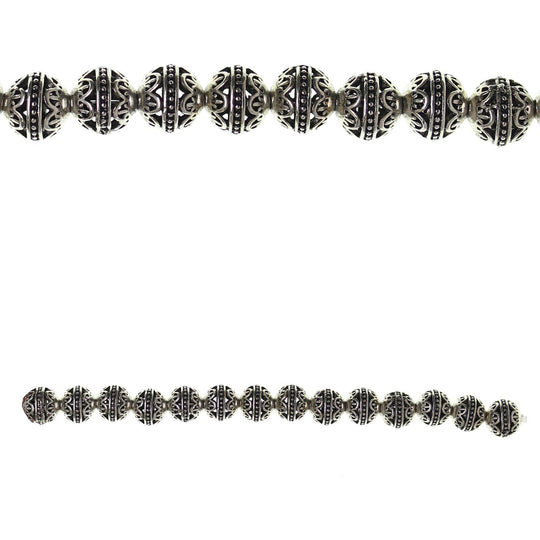 Silver Plated Metal Filigree 10mm BeadsBeads by Halcraft Collection