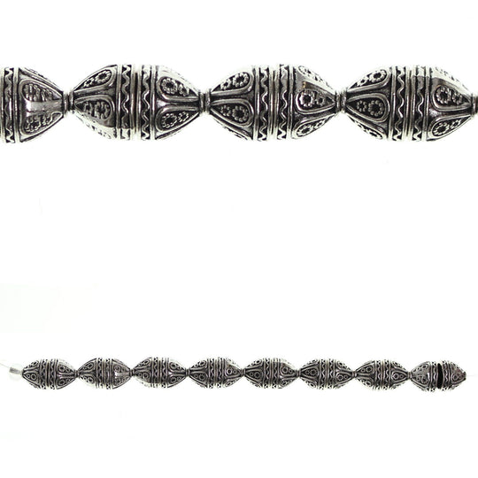Silver Plated and Antiqued Bali-Style 8x9mm Bead CapBeads by Halcraft Collection