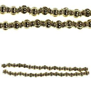 Gold Tone Plated 5mm Lantern BeadBeads by Halcraft Collection
