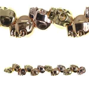 Multi Metal Plated Cast Skull 10X12mm BeadBeads by Halcraft Collection