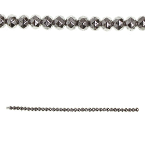 Silver Plated 4x6mm Faceted Rondell BeadsBeads by Halcraft Collection