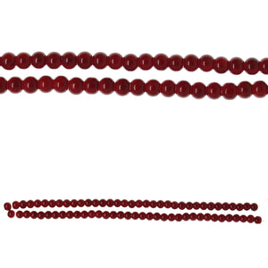 Glass Red Opaque Round 6mmBeads by Halcraft Collection