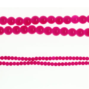 Glass Fucshia Translucent Round 6mm