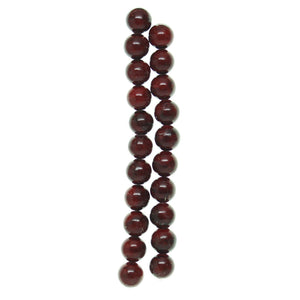 Dyed Quartzite Red 10mm  Stone Round