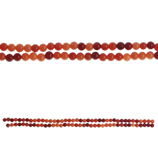 Orange Dyed Dolomite 4mm  Stone Round