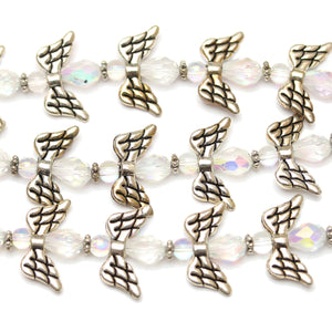 Beads, Glass, Glass Beads, Glass Bead, Angel, Crystal, Metal, Mix Shape, Mixed,  94222, 18x20mm, 18mm, 20mm