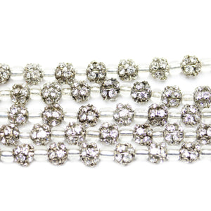Metal Rhinestone Ball 6mm