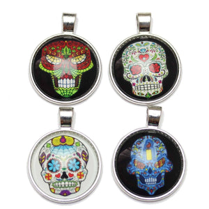Candy Skull Assortment - Art Under Glass 28mm  PendantPendant by Halcraft Collection
