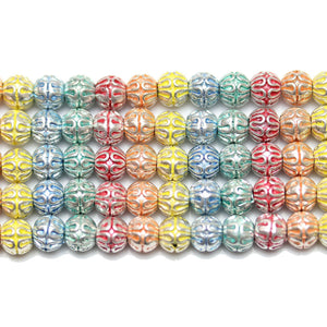Bead, Beads, Metal, Metal Beads, Metal Bead, Metal Beads Plated, Multi, Multi Metal, Multi Colored Bead, Multi Color Bead, Mixed Color Bead, Mix Color, Mixed Color, Round, Round Bead, Round Beads, Round Metal Bead, 6mm