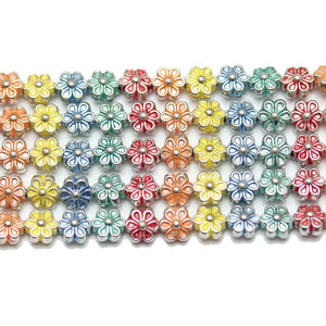 Bead, Beads, Metal, Metal Beads, Metal Bead, Metal Beads Plated, Multi, Multi Metal, Multi Colored Bead, Multi Color Bead, Mixed Color Bead, Mix Color, Mixed Color, Flower, Flower Bead, Flower Beads, Flower Metal Bead, 6mm