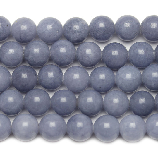 Light Blue Dyed Dolomite Round 8mm