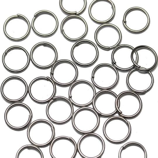 Silver Tone Jump Rings 1x8mm Findings by Bead Gallery