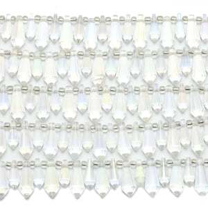 Bead, Beads, Glass, Glass Beads, Glass Bead, Faceted, AB, Crystal, Teardrop, Teardrop Beads, Teardrop Bead, 33135