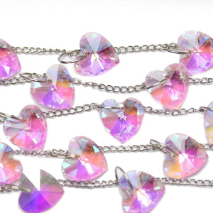 Bead, Beads, Glass, Glass Beads, Glass Bead, Faceted, Top Hole, Pink, Rose, Heart, Heart Beads, Heart Bead, 39123